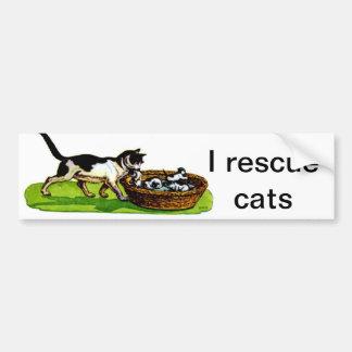 Ich rette Katzen Autoaufkleber