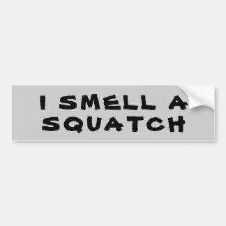 Ich rieche ein Squatch Autoaufkleber