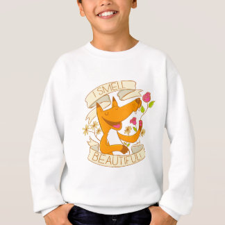 ich rieche schönen Fuchs mit Roten Rosen Sweatshirt