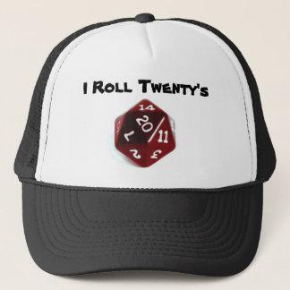 Ich rolle den Hut zwanzig Truckerkappe