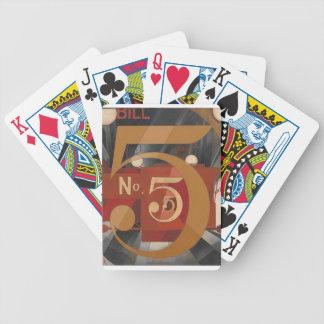 Ich sah die Tabelle 5 im Gold Bicycle Spielkarten