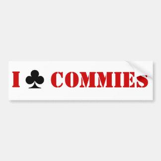 Ich schlage Commies mit einer Keule Autoaufkleber