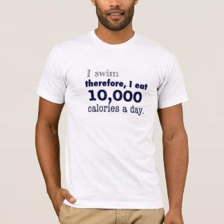 Ich schwimme, deshalb esse ich 10.000 Kalorien ein T-Shirt