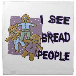 Ich sehe Brot-Leute Serviette