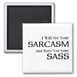 Ich sehe Ihren Sarkasmus und hebe Sie irgendein Quadratischer Magnet