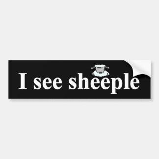 Ich sehe sheeple autoaufkleber