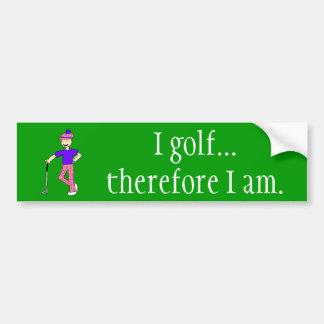 Ich spiele… Golf  Deshalb bin ich Autoaufkleber