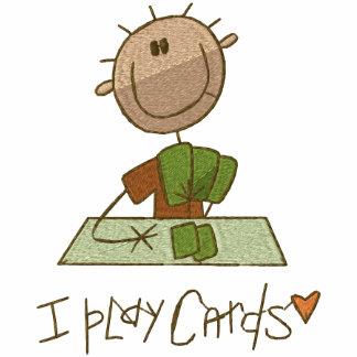 Ich spiele Karten Besticktes Kapuzenpulli