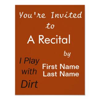 Ich spiele mit Schmutz-gotischen Schriften 10,8 X 14 Cm Einladungskarte