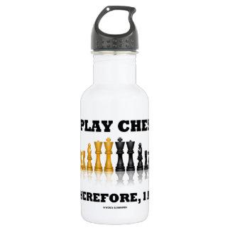 Ich spiele Schach deshalb, ich bin (Schach-Set) Trinkflasche