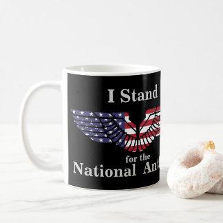 Ich stehe für die Nationalhymne Kaffeetasse