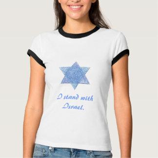 Ich stehe mit Israel-T-Stück T-Shirt
