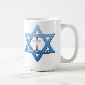Ich stehe mit Israelchristlichem Querdavidsstern Kaffeetasse