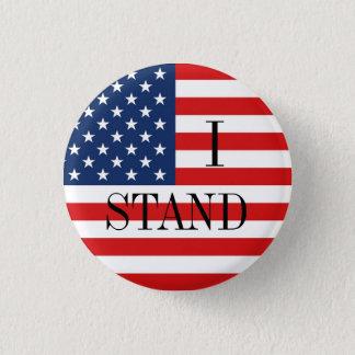 """""""ICH STEHE"""" patriotische amerikanische Flagge Runder Button 2,5 Cm"""