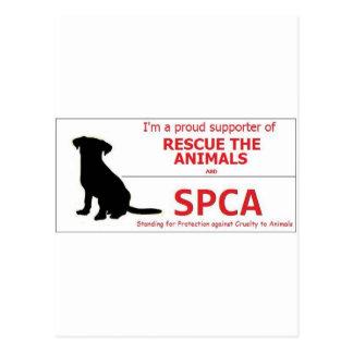 """""""Ich stütze das SPCA… """" Postkarte"""