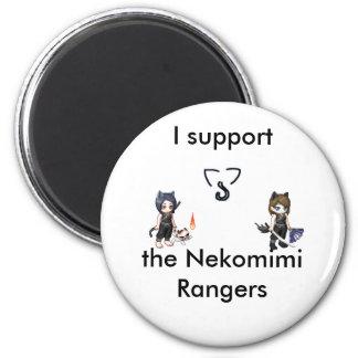 Ich stütze den Nekomimi Magneten Runder Magnet 5,7 Cm