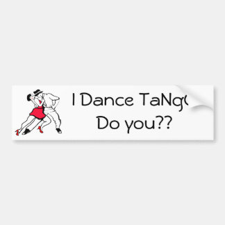 Ich tanze Tango, tun Sie? Autoaufkleber