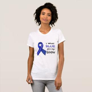 Ich trage blaues e für mein Shirt der