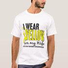 Ich trage Gelb für meinen Ehefrau10 Endometriosis T-Shirt