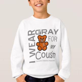 Ich trage Grau für mein Cousin Sweatshirt