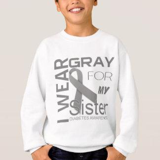 ich trage Grau für meine Schwester Sweatshirt