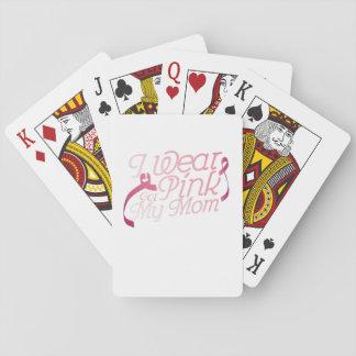 Ich trage Rosa für meinen Mamma-Brustkrebs Spielkarten