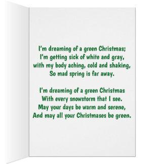 Ich träume von einem grünen Weihnachten Karte