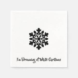 Ich träume von einem weißen Chritmas Papierserviette