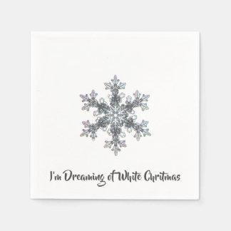 Ich träume von einem weißen Chritmas Serviette