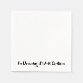 Ich träume von einem weißen Chritmas Servietten