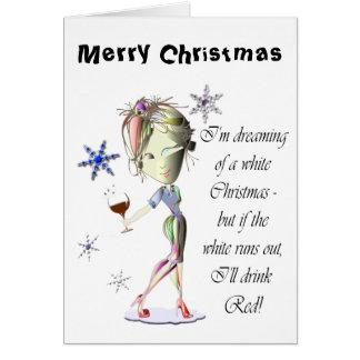 Ich träume von einem weißen Weihnachten, lustiges Karte