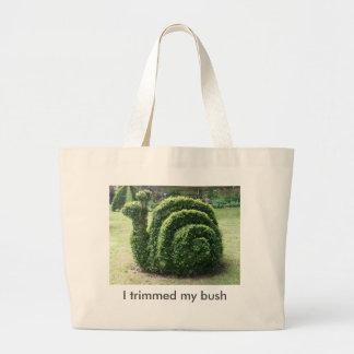 Ich trimmte meinen Busch. Jumbo Stoffbeutel