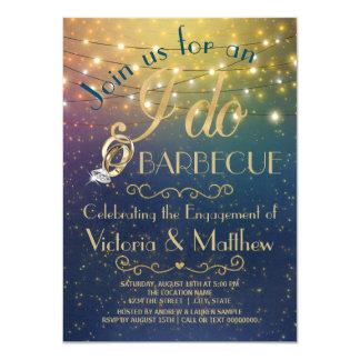 Ich tue GRILLEN Schnur-Licht-Starry Nacht-GRILLEN 11,4 X 15,9 Cm Einladungskarte