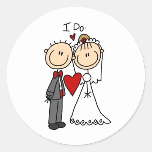 Ich tue Hochzeits-Zeremonie-Aufkleber