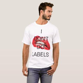 Ich tue nicht Aufkleber und heißes Lippent-stück T-Shirt