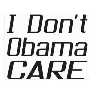 Ich tue nicht obamacare Entwurf Postkarte
