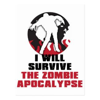 Ich überlebe die Zombie-Apokalypse Postkarte