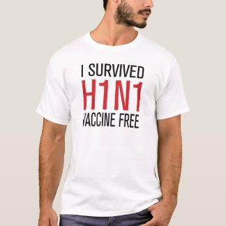Ich überlebte den freien Impfstoff H1N1 T-Shirt