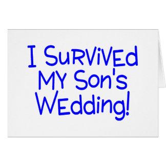 Ich überlebte meine Söhne, die Blau Wedding sind Karte