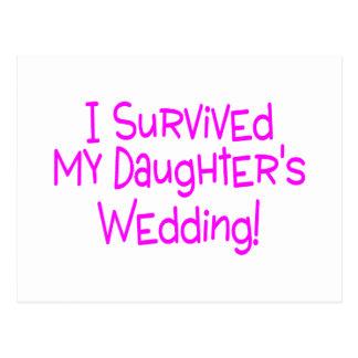 Ich überlebte meine Töchter, die Rosa Wedding sind Postkarten