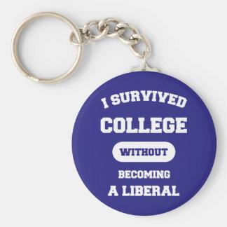 Ich überlebte Uni, ohne ein Liberaler zu werden Schlüsselanhänger