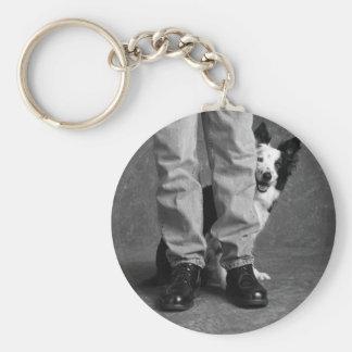 Ich und mein Schatten - Collie-Hund Standard Runder Schlüsselanhänger