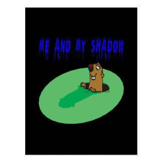 Ich und mein Schatten Postkarte