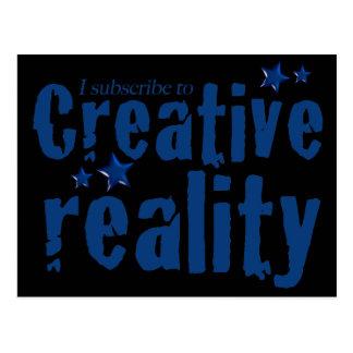 Ich unterzeichne zur kreativen Wirklichkeit Postkarte