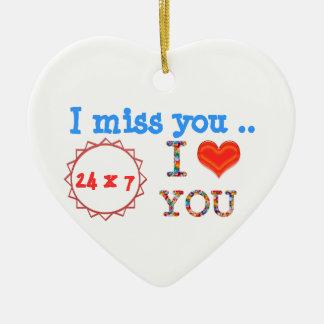 Ich verfehle SIE - ein Geschenk der Auswirkung des Keramik Herz-Ornament