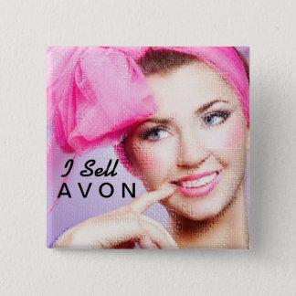 Ich verkaufe quadratischen Knopf Avons Quadratischer Button 5,1 Cm