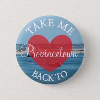Ich verließ mein Herz im Provincetown Bild-Knopf Runder Button 5,7 Cm