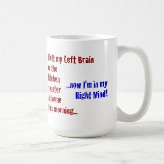 Ich verließ mein links Gehirn zu Hause Kaffeetasse
