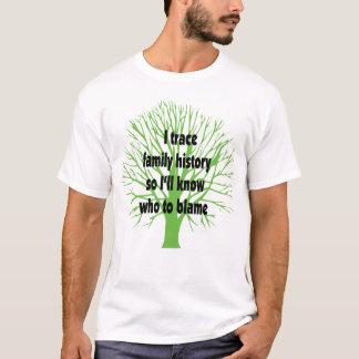 Ich vollziehe Familiengeschichte nach T-Shirt