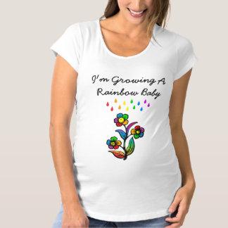 Ich wachse einen Regenbogen-Baby-Mutterschafts-T - Schwangerschafts T-Shirt